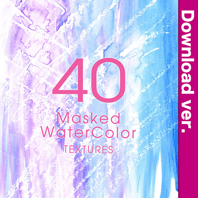 ★75%OFF★透明水彩素材集3-4/MaskedWaterColor_3-4