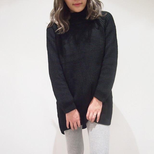 【SALE】BACKLONG TURTLE KNIT
