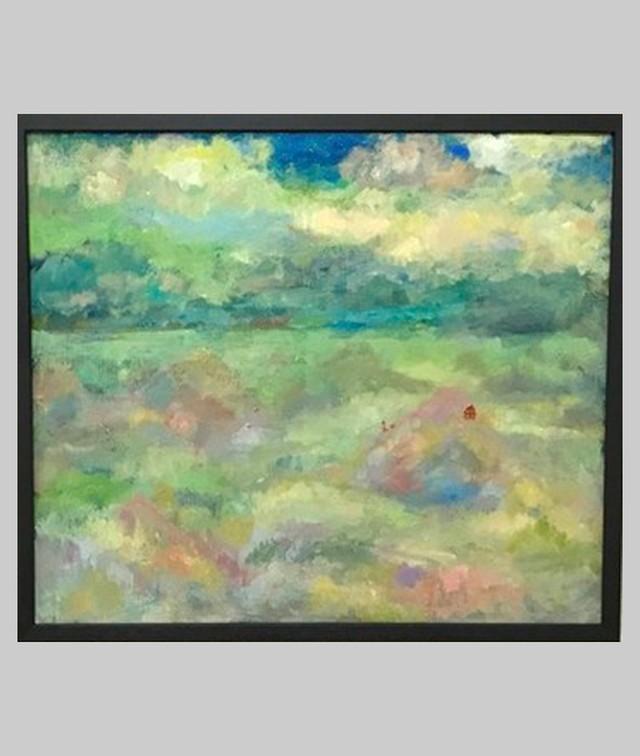 油彩画 | 海と空の散歩 | OIL x CANVAS 2018