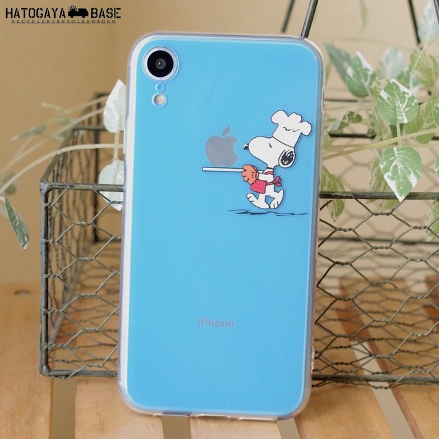 スヌーピーiPhoneケース SNOOPY CHEF [iPhoneXR/8/7/7Plus/6s/6sPlus/SE]