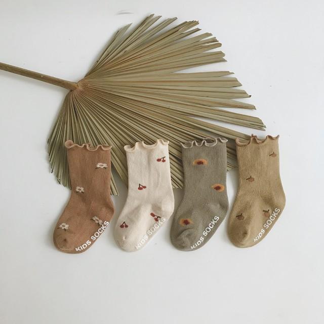 【即納】靴下4点セット キッズソックス ベビーソックス 子供用 フリル靴下