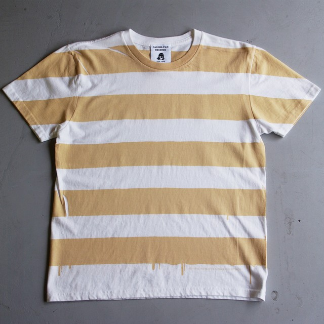 ULTRA HEAVY & TACOMA FUJI RECORDS STRIPE T BEIGE