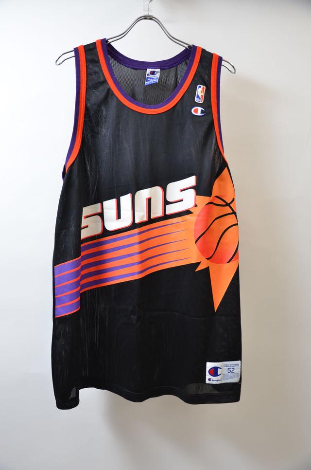 CHAMPION チャンピオン NBA TANKTOP SUNS エヌビーエー フェニックス・サンズ バスケジャージー BLK ブラック 400608190654