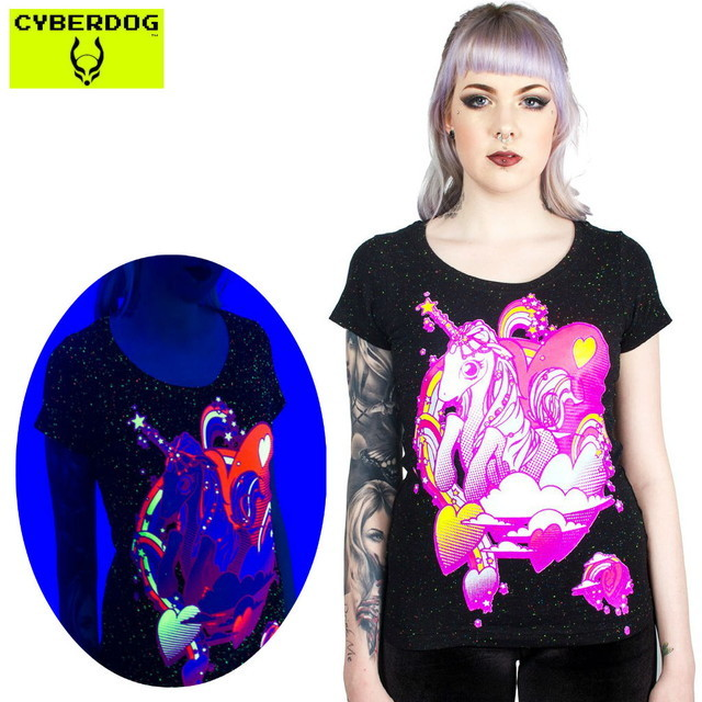 【CYBERDOG/サイバードッグ】GIRLS SPECLE S/S UNICORN