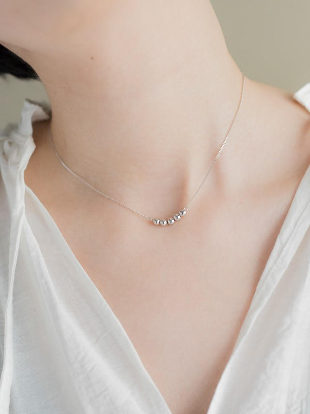Ball Motif Necklace[Silver925]