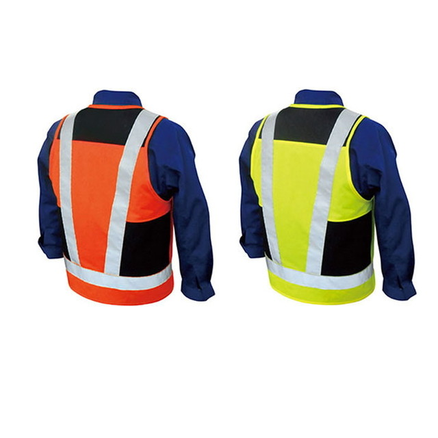 br-860  空調エアコン服専用 高視認ベスト 空調服の上から着れる高視認ベスト フリーサイズ JIST8127 国内規格クリア [ブレ]
