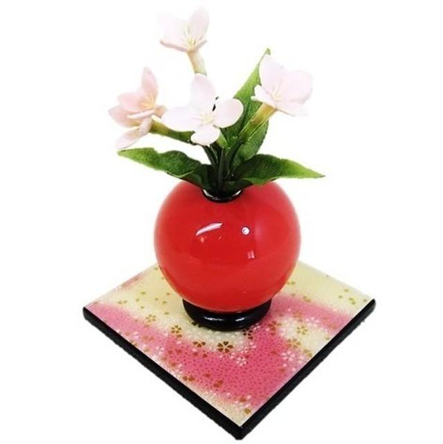 木製花器「きゅうと」 季節限定色 春 桜敷板セット