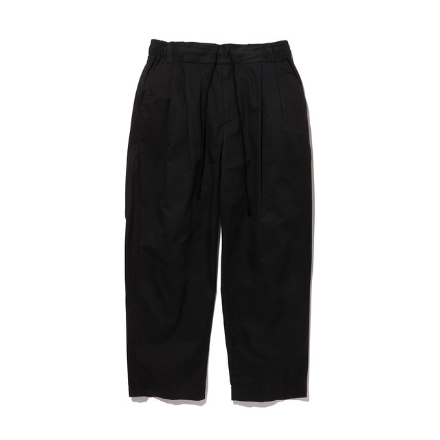 2 TUCKED WIDE PANTS -BLACK