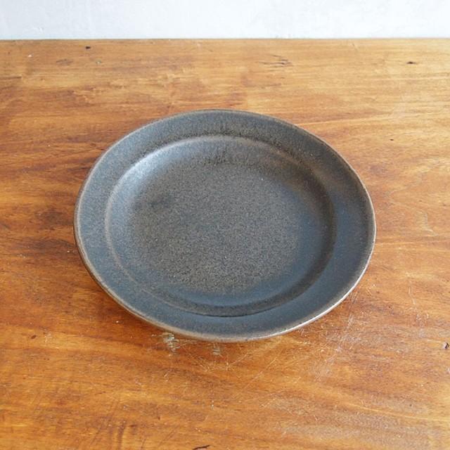 松尾直樹 | 鉄釉 6寸リム皿
