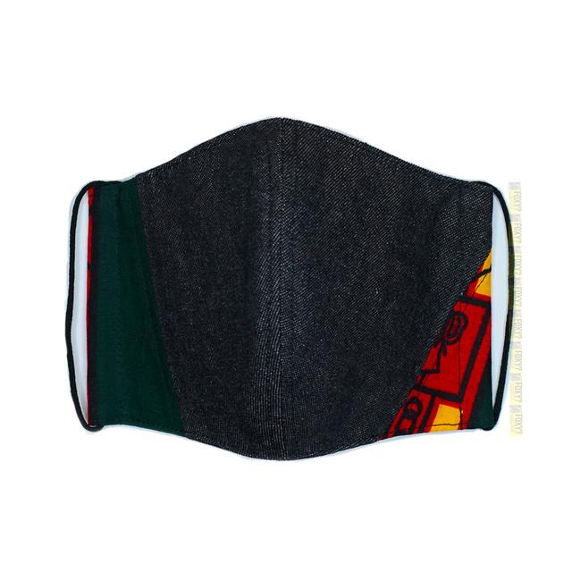 M19/デニム・アフリカ布のマスク ★アイスコットン襦袢生地