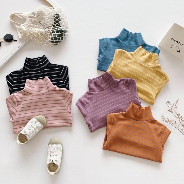 30%off【在庫限り再販なし】6色ボーダータートルネックTシャツ