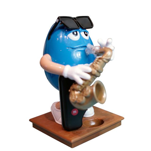 m&m's Saxophone ブルー サックス SAX キャンディーディスペンサー