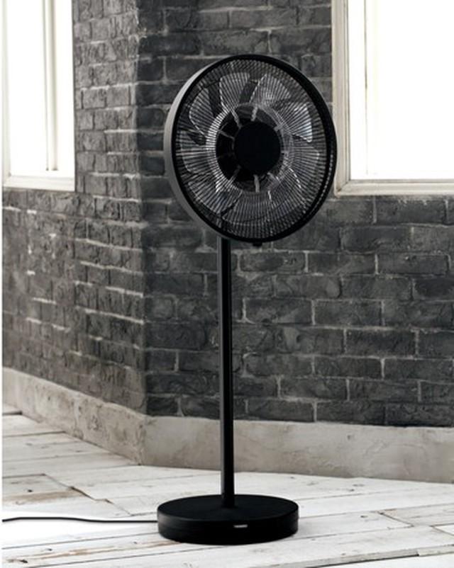 【残りわずか】北欧デザイン家電 スタンド扇風機 ブラック