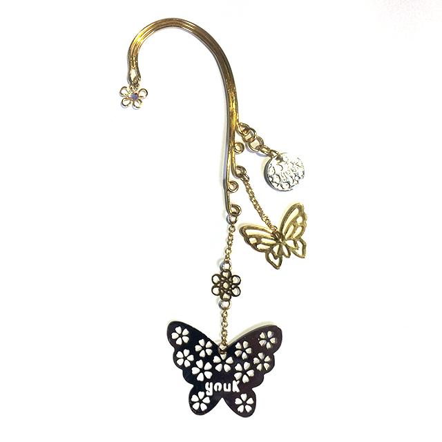 2匹の蝶のイヤーフック