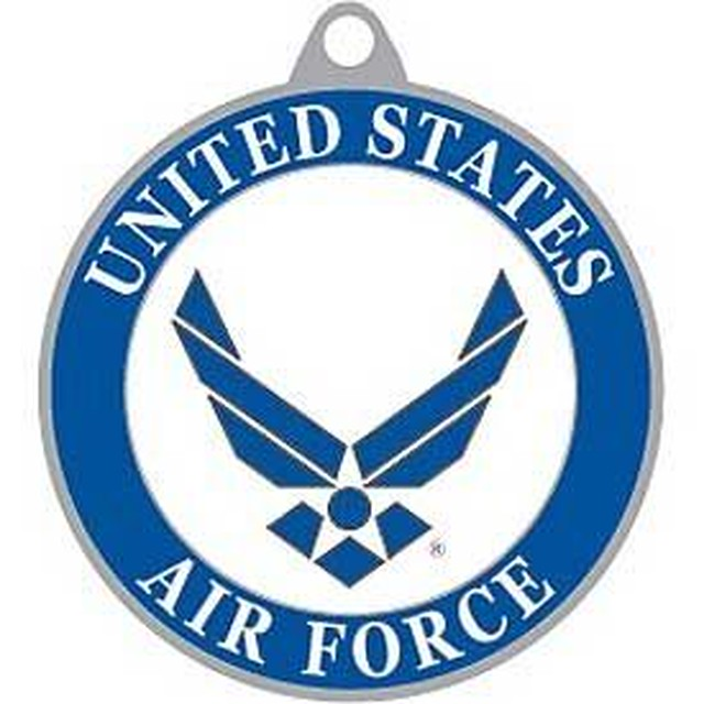 引続きセール主力商品20%OFF!   U.S.Airforce エアーフォース アメリカ空軍 ロゴ メダリオンキーホルダー【ミリタリー・メダリオン・キ−リング・米軍正式ライセンス】 KC2046