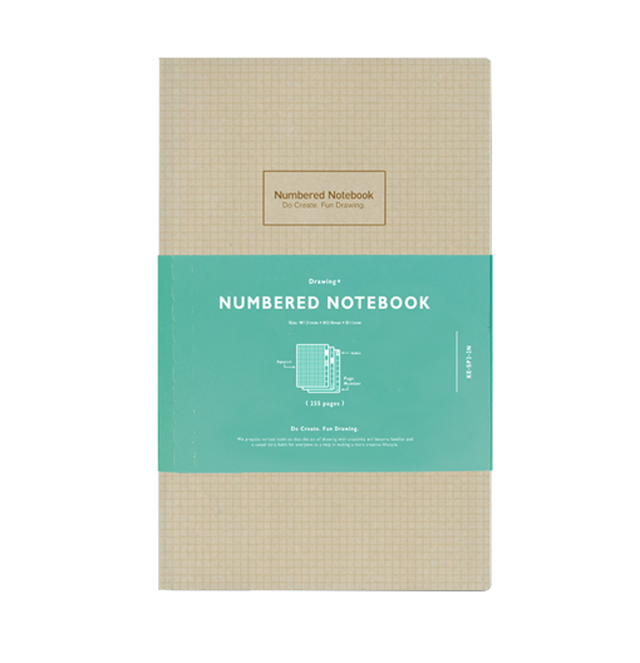 Numbered Notebook