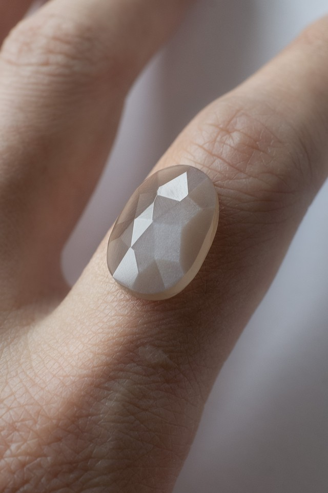 Faceted Moonstone - 011