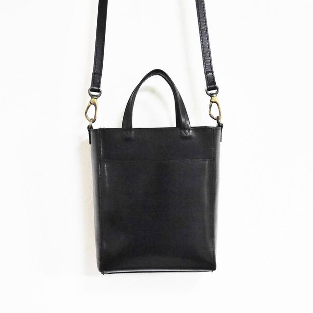 < Chelsea > Mini tote Shoulder - black -