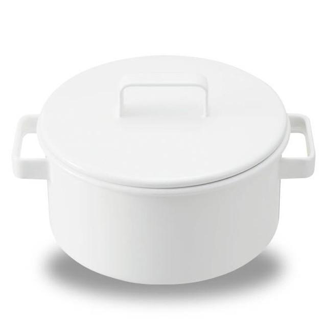 365methods キャセロール 20cm 両手鍋 ホーロー 鍋 蓋つき アウトドア グッズ キャンプ 用品