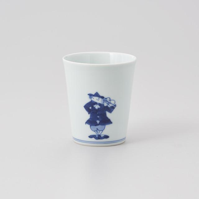 """【青花】""""ハーモニー"""" フリーカップ[小](ヴァイオリン/トランペット)"""