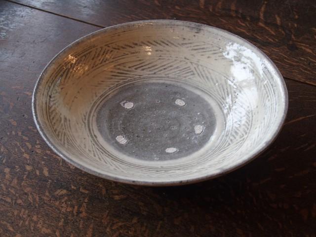 八田亨 三島手7寸鉢