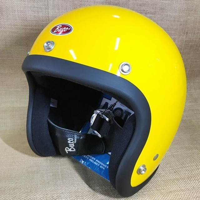 MOTO BUCO モトブコ ヘルメット イエロー ベイビーブコ ML