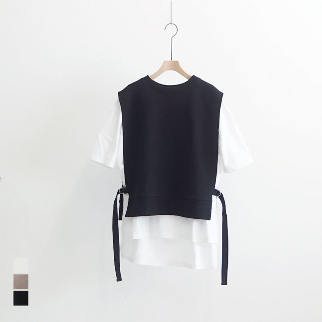 kiino. キイノ side belt vest 裏毛サイドベルトベスト (品番k-021)