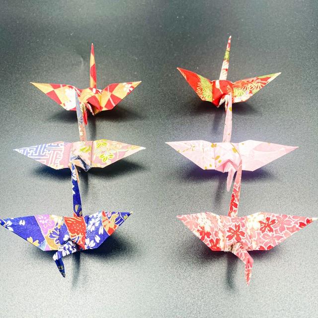 手染め和紙の折り鶴「はじまり」(神前式、和装婚折り鶴シャワー演出・和風撮影小物)80羽入り