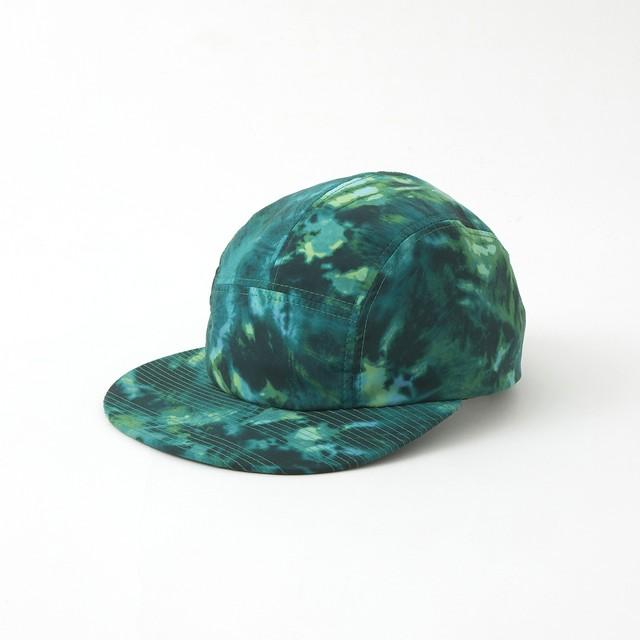 TIE DYE PRINTED JET CAP - GREEN