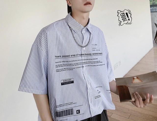【NEW】WORD5部丈デザインシャツ 2カラー