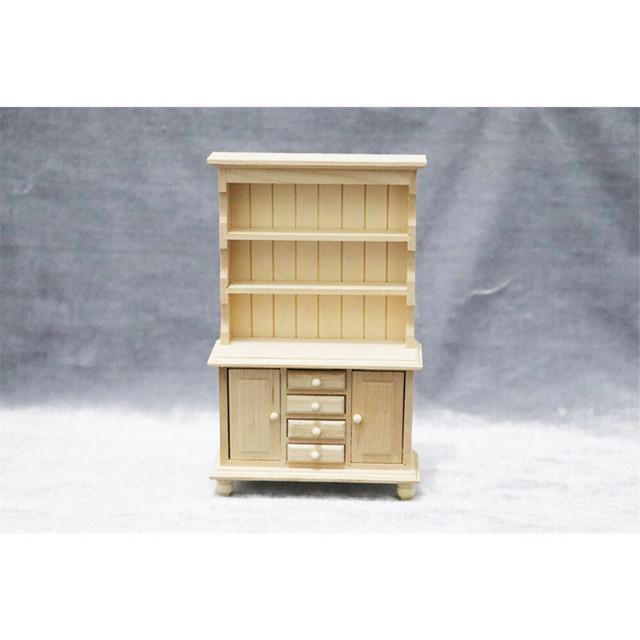 ミニチュア食器棚「白木(無塗装)」