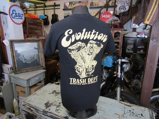 TRASH DEPT オリジナル Tシャツ ブラック [No.1] Ladies & Youth サイズ