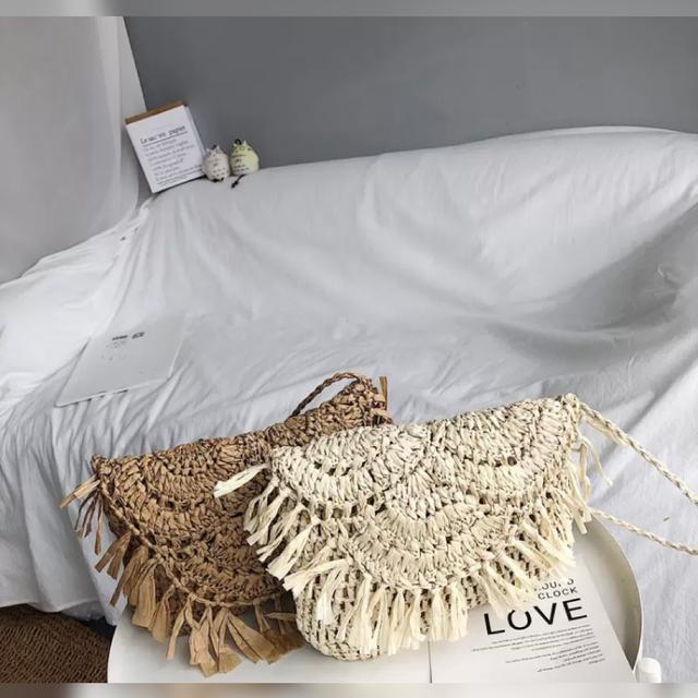 【ボヘミアンな雰囲気漂う、可愛らしいマクラメ編みのポシェット】マクラメ編みミニショルダーバッグ