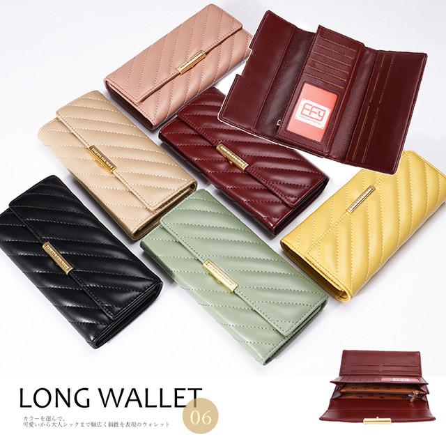 長財布 レディース 大容量 ロングウォレット カード収納 小銭入れあり さいふ 大人 即納