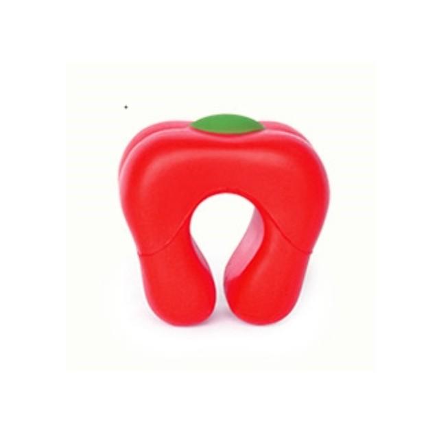ドアクッション・パプリカ【Red】 子供 ・ ペットの安全 耐久性 が高く 長持ち するウレタン素材 快適 ・ 便利 なドアストッパー