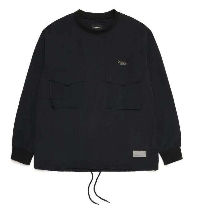 PULL OVER POCKET SHIRTS / BLACK