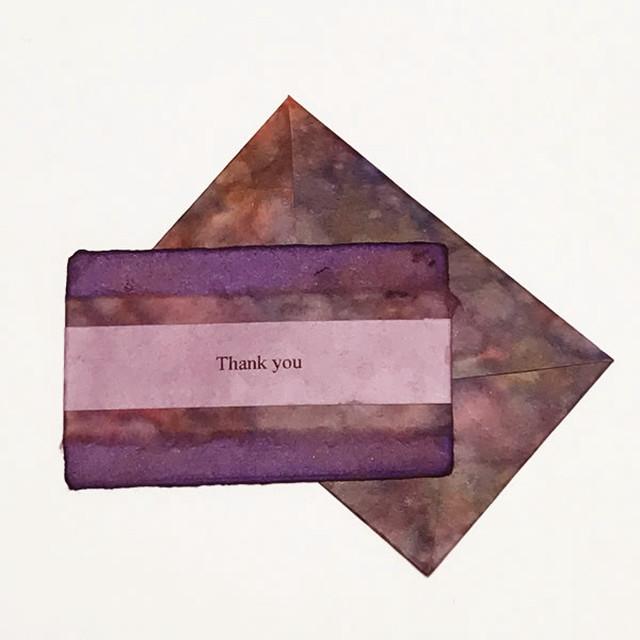 和紙の誕生日カード(Birthday023)