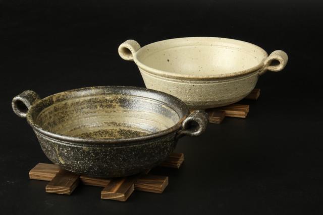 井桁付きひとり鍋 信楽焼