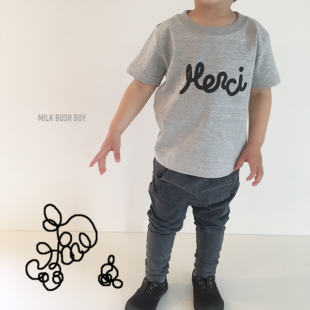 baby + kids t-shirt 【Merci 】