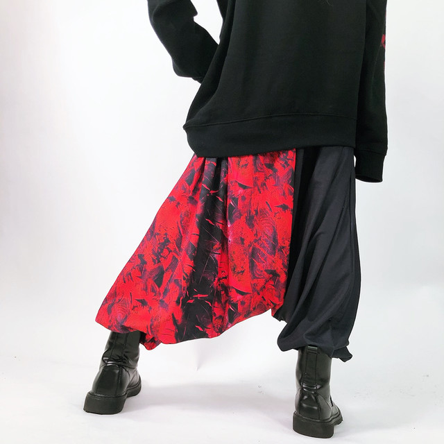 two-tone sarrouel pants【RED FEATHER】