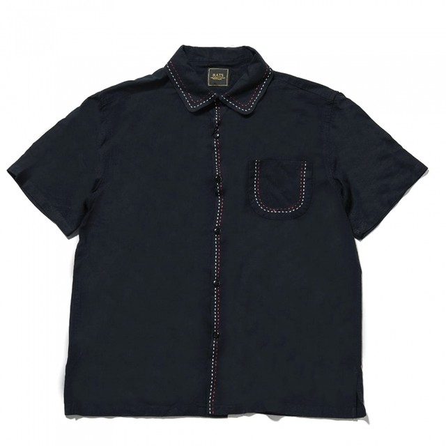 RATS(ラッツ) / BLACK RAYON S/S SHIRT(19'RS-0505)(レーヨンシャツ)
