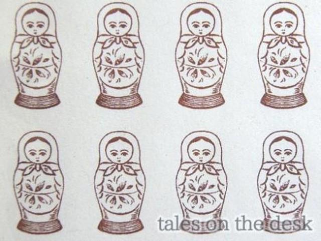 レターセット - マトリョーシカ - tales on the desk