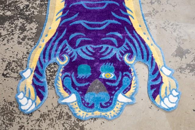 Tibetan Tiger Rug 《Mサイズ•シルク•オリジナル•パープルバージョン046》チベタンタイガーラグ