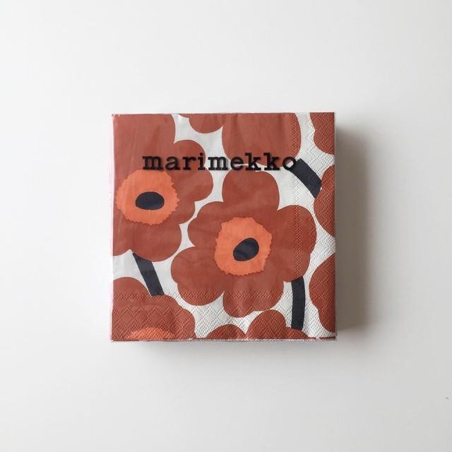 【marimekko】カクテルサイズ ペーパーナプキン UNIKKO テラコッタ 20枚入り
