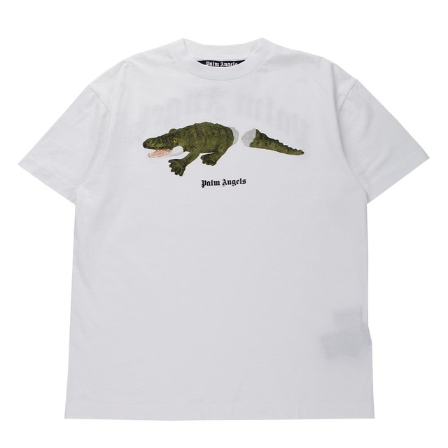 PALM ANGELS Croco T-Shirt White