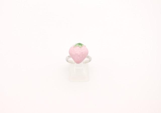 有田焼リング イチゴ ピンク