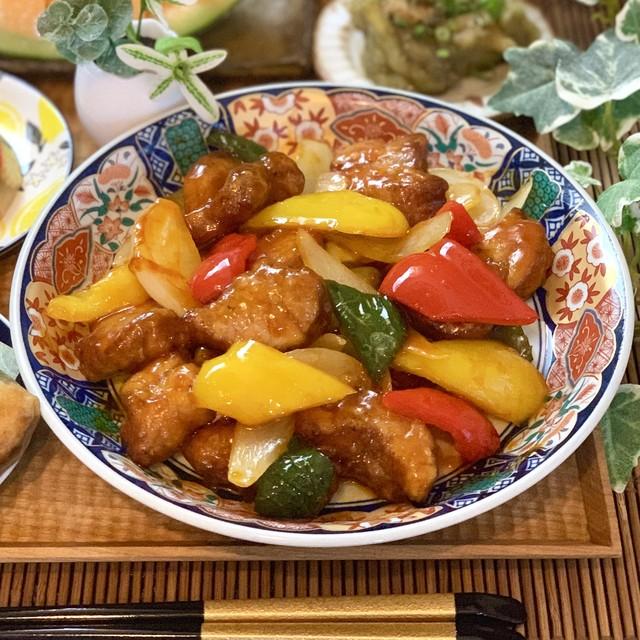 豚ヒレ肉の贅沢黒酢酢豚