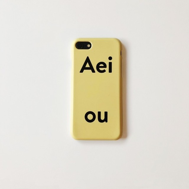 [Aeiou] Hard Phone case - rr door yellow (7/8,X/Xs,11)