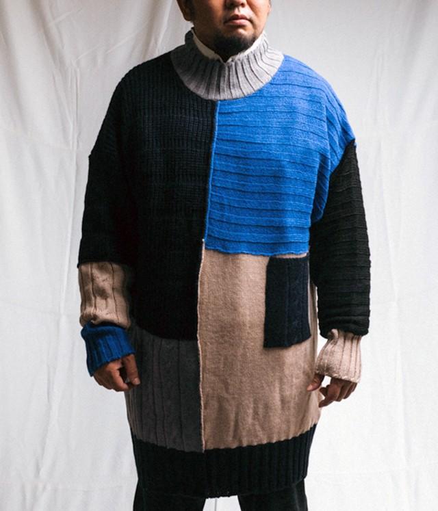 MIAO RAN - Knitwear multi patch - FW18-MAG2