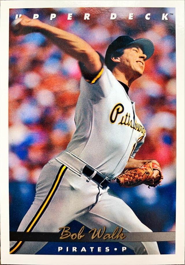 MLBカード 93UPPERDECK Bob Walk #078 PIRATES
